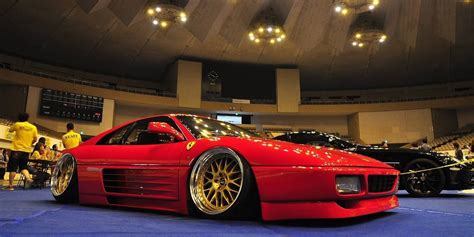 stanced ferrari here s why you shouldn t this stanced ferrari 348