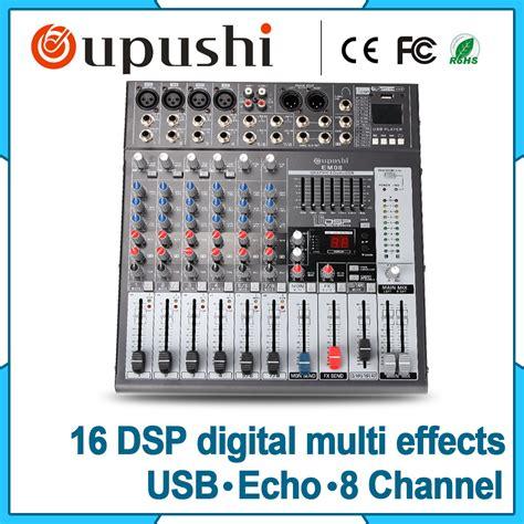 Promo Power Lifier Karoke New Murah professional sound mixer 8 channel sound audio power lifier mixer effector karaoke mixer