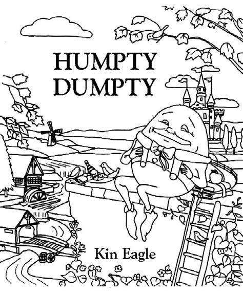 Humpty Dumpty Coloring Pages Bestofcoloring Com Humpty Dumpty Coloring Page
