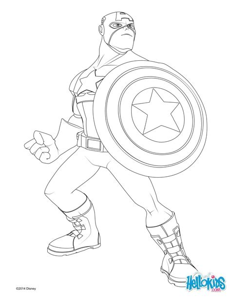 Captain America Coloring Pages Hellokids Com Captain America Color Page