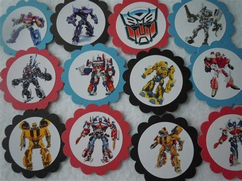Cupcake Toppers Karakter Tema Bumblebee Transformers transformers cupcake toppers bumble bee packed 12 also available happy birthday banners