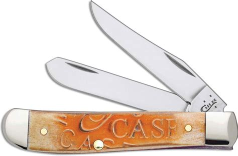 Chicago Cutlery Kitchen Knives case mini trapper knife carved persimmon orange bone ca