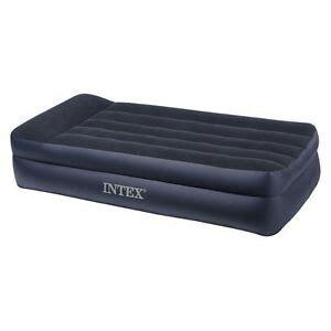 intex twin pillowrest double high air mattress  built  pump