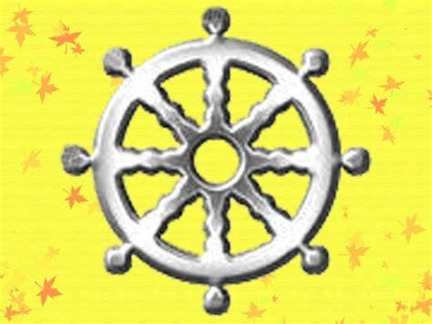 Menempuh Jalan Kesucian belajar dhamma simbol buddhis dharma cakra swastika teratai