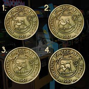 Five nights at freddy s fazbears pizza tokens by theevilos on