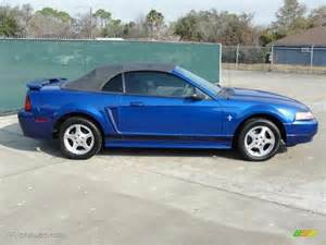 sonic blue metallic 2002 ford mustang v6 convertible