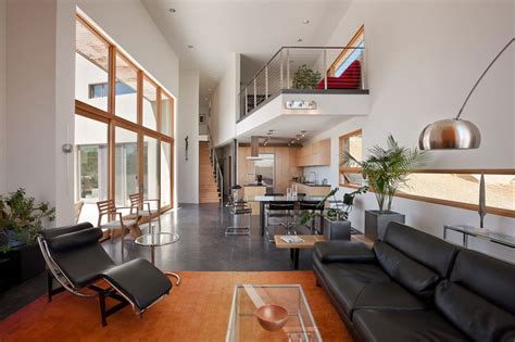 open interiors lofty living with open two story interiors
