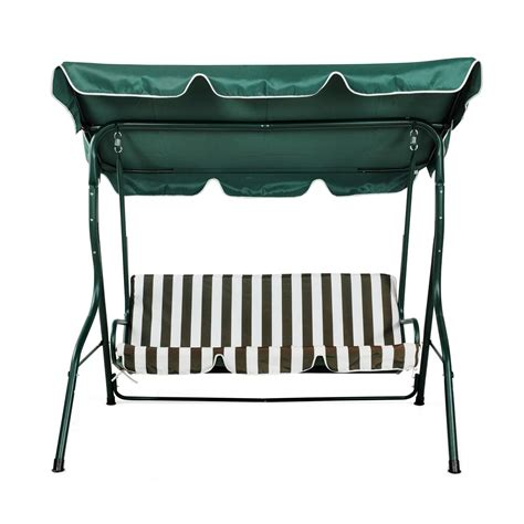 swinging benches for the garden garden swing bench chair for 3 person 163 52 99 oypla stocking the very best in