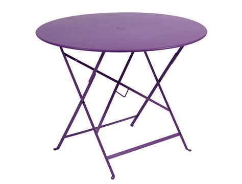 fermob bistro colourful metal folding table