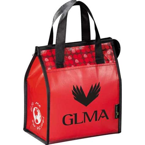 leeds laminated non woven lunch bag custom printed