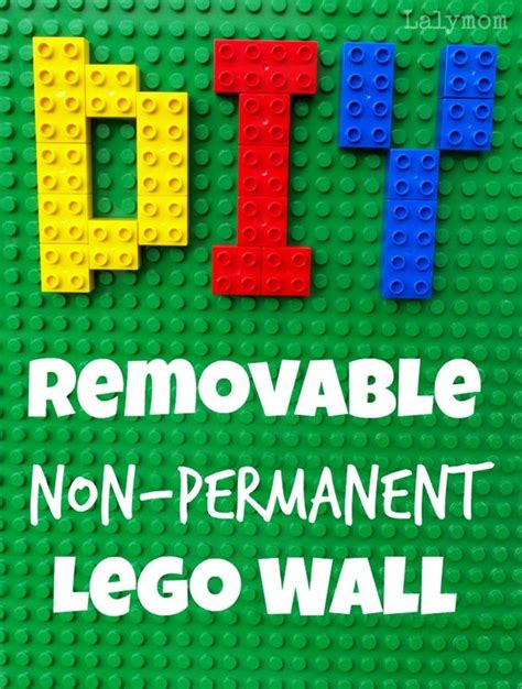 lego wall tutorial how to make a removable non permanent lego wall