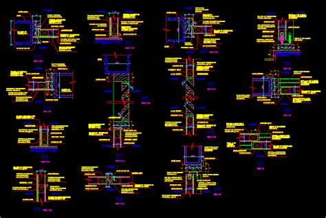 wood screen details dwg detail  autocad designs cad