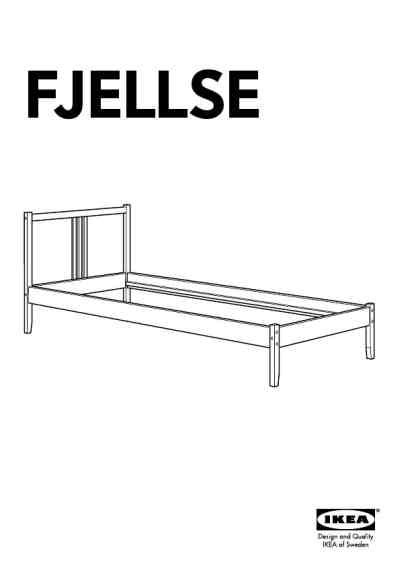 Ikea Bed Frame Directions Ikea Fjellse Bed Frame Tw Furniture User Guide For Free 41ad Manual Guru