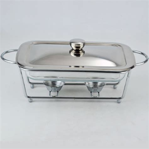buffet wholesale wholesale steel buffet chafing dish with glass pan set