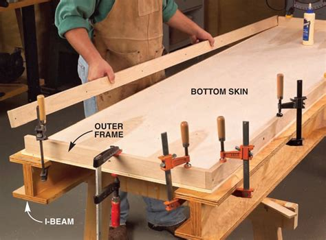 woodworking bench top torsion box workbench and expandable assembly table