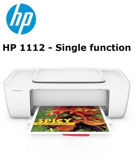 Printer Hp 1112 Print Only Garansi Resmi hp deskjet 1112 single function color printer 1000 pages print yield buy hp deskjet 1112