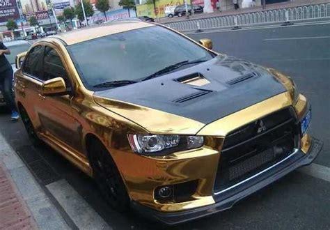 Gold Evo Mitsubishi Evo X
