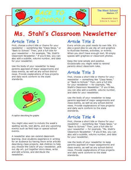 education world newsletter templates how to create a daycare newsletter great idea a monthly