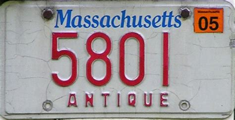 Mass Rmv Vanity Plate Availability by Antique Bay State Plates