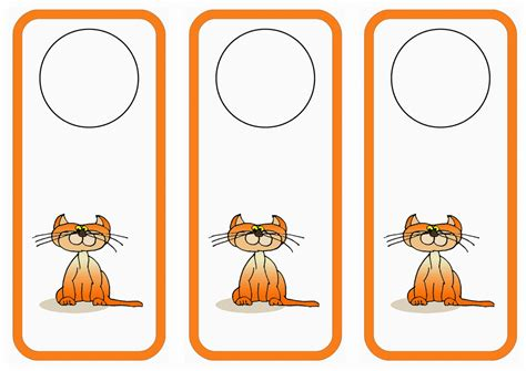 printable animal door hangers cat lovers door hangers birthday printable