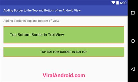 android layout view border adding border to the top and bottom of an android view