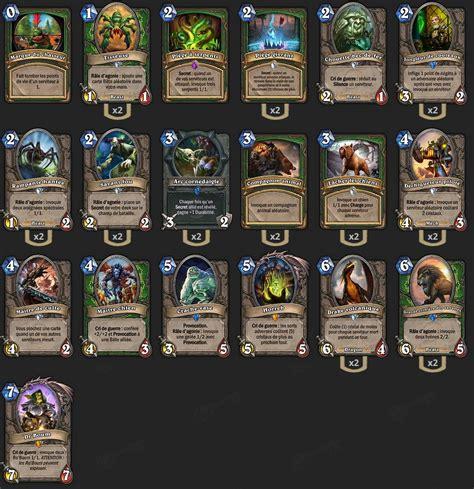 pro hearthstone decks deck chasseur mid range deck pro hearthstone heroes