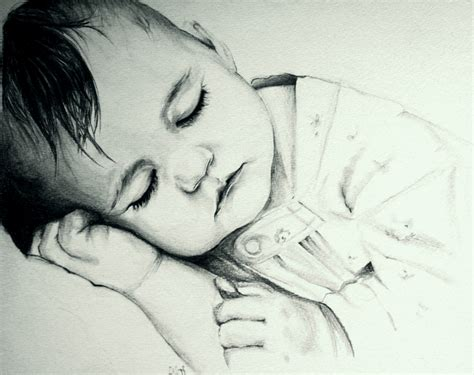 Pencil Sketches Of Babies Drawing Art Library Drawing Sketch