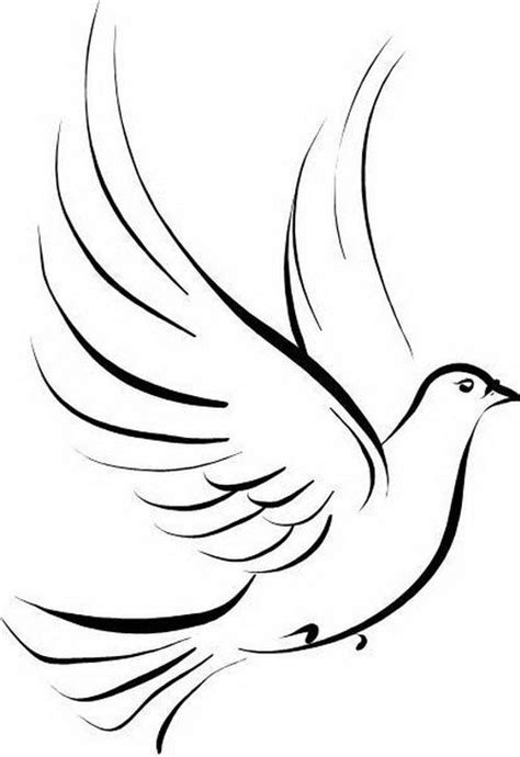 Small Dove Outline by Dove Idea But With 2 Symbolizing Birds Maybe Our Initials Or Wedding Date Also