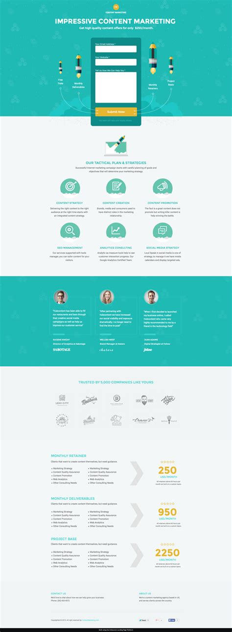 themeforest unbounce content marketing unbounce landing page by afahmy