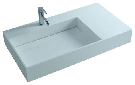 resin sinks bathrooms adm white wall hung solid surface stone resin sink