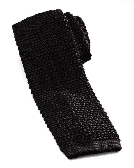 black silk knit tie charvet knit silk tie black
