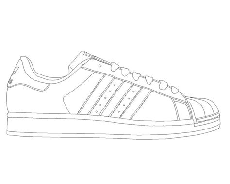 shoe coloring page template adidas superstar template by katus nemcu on deviantart
