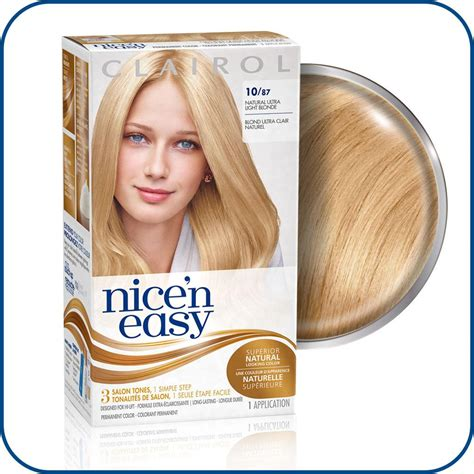 nice n easy permanent color ultra light natural blonde 87 amazon com clairol nice n easy hair color 087 ultra