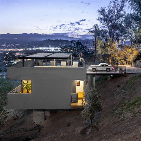 building a house on a steep slope modern house on stilts very steep down slope terrain archinspire
