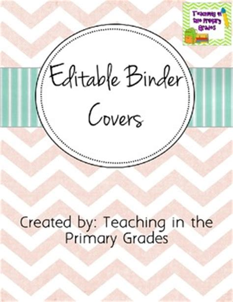 editable binder cover templates editable binder covers by kiddos and crayons by