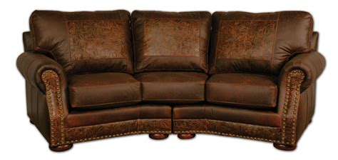 Curved Leather Sofas Cameron Ranch Conversation Sofa Dejavu Holster Cosmo Tooled Leather