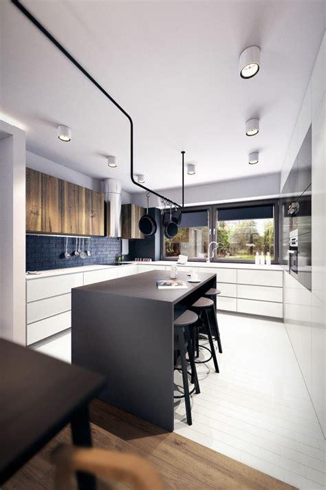 cuisine 駲uip馥 noir et blanc decoration cuisine m 233 langez le noir le blanc et le bois