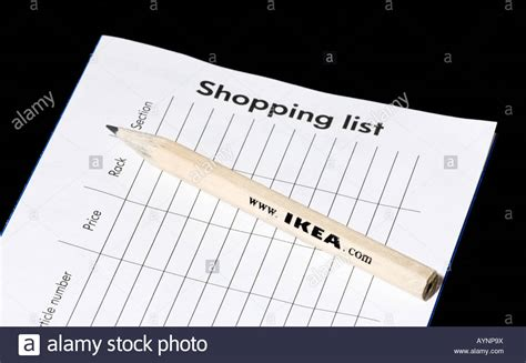 my ikea order an ikea shopping list order form and pencil on a black