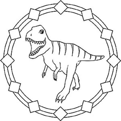 dinosaur mandala coloring pages mandala dinosaur tyrannosaurus rex lasten mandala
