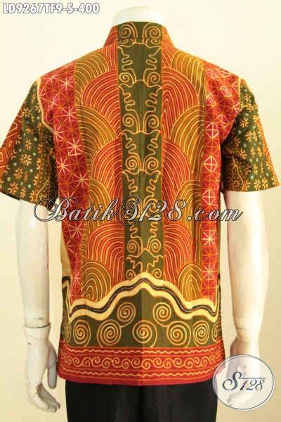 Kemeja Lengan Pendek Batik Sinaran 2 hem batik klasik motif sinaran kemeja batik lengan pendek furing pria muda harga 400k