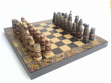 Handmade Chess Set - chess set handmade in puno clay chess chess set
