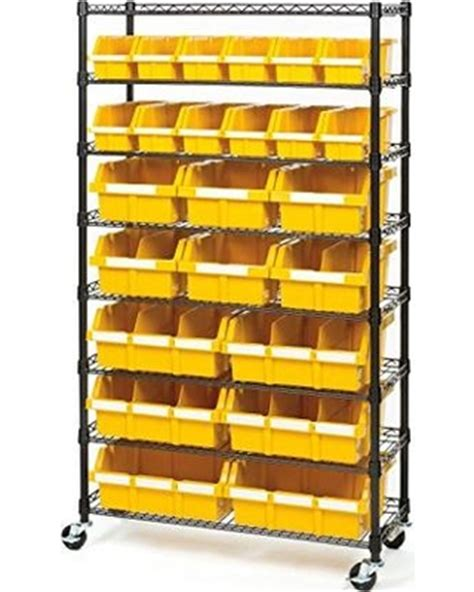 sweet deal on 24 bin rack with wheels storage shelves bins