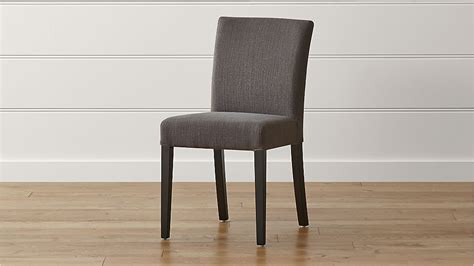 lowe smoke upholstered dining chair reviews crate