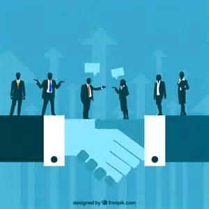 free business business deal concept vector premium