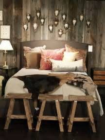 Wall is a perfect addition as to a shabby chic as to a rustic bedroom