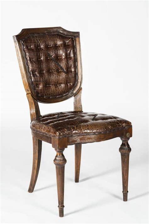 sedie classiche di lusso sedia in pelle di vitello stata coccodrillo idfdesign