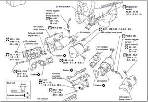 2002 nissan frontier parts diagram how to replace 2002 nissan frontier exhaust manifold and