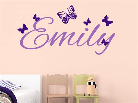 kinderzimmer bilder name wandtattoo name mit schmetterlingen kindername wandtattoo de