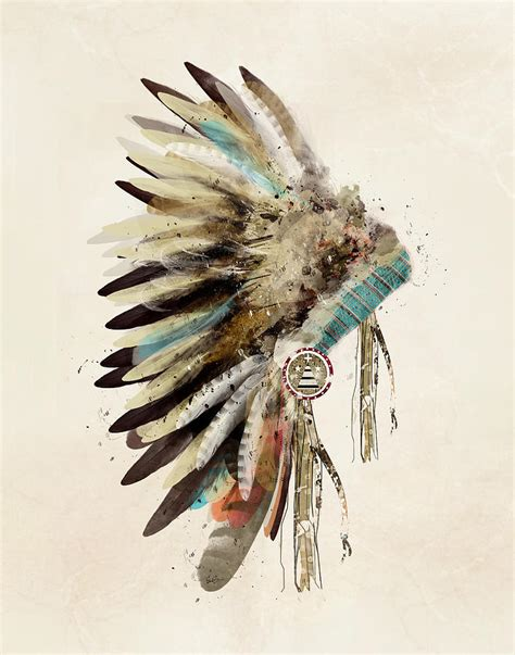native headdress painting by bleu bri