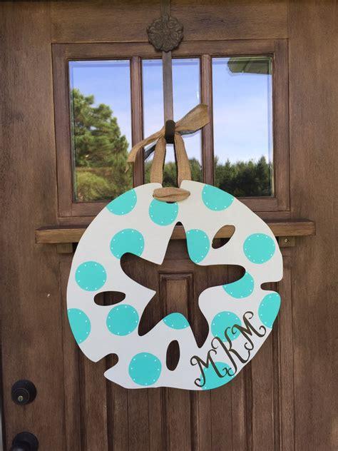 Custom Door Hanger by 20 Shabby Chic Sand Dollar Door Hanger Custom Order